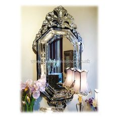 Octagon Venetian Mirror 140cm x 72cm