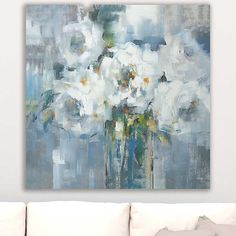 White Rose Giclee Canvas Art Print