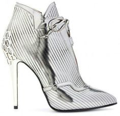 Okay, I know fierce is so over-used but, in this case, it truly does apply: Women's Perforated-leather ankle boots by Fendi Women's Shoes, Mode Shoes, Only Shoes, Me Too Shoes, Shiny Shoes, Leather Ankle Boots, Heeled Boots, Bootie Boots, Ankle Booties