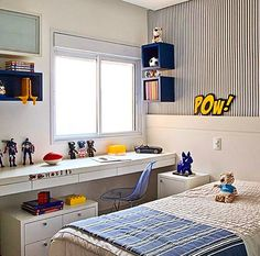 cool and stylish boys bedroom ideas 19 Boys Bedroom Decor, Home Bedroom, Bedroom Ideas, Apartment Interior, Small Rooms, Home Decor Furniture, Boy Room, Interior Design, Decoration