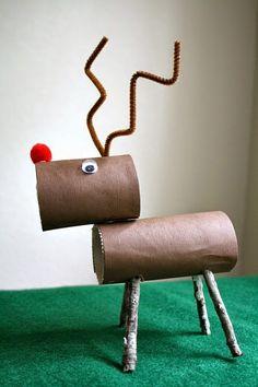 Okulöncesi Sanat ve Fen Etkinlikleri: Tuvalet Kağıdı Rulosu ile Geyik Yapımı