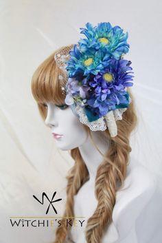 ガーベラの花束をイメージしたヘッドドレス