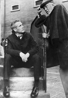 Paul Newman and John Huston, November 1972.