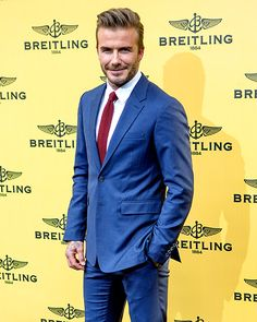 David Beckham brought the hotness to Breitling Boutique's opening event in Madrid, Spain, on June 3.