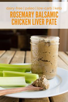 Rosemary Balsamic Chicken Liver Pate (dairy-free, paleo, low-carb + keto) (Healthful Pursuit) Chicken liver pate with rosemary balsamic (dairy-free, paleo, … Chicken Pate Recipe, Chicken Liver Pate, Chicken Livers, Chicken Recipes, Pate Recipes, Liver Recipes, Onion Recipes, Terrine Recipes, Paleo Appetizers