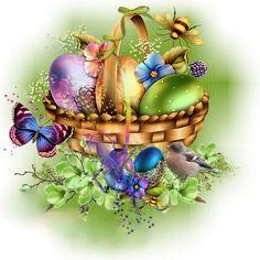 Elegant Easter Basket with Easter Eggs Happy Easter Quotes, Happy Easter Wishes, Happy Easter Wallpaper, Holiday Wallpaper, Happy Easter Pictures Inspiration, Images Wallpaper, Easter Messages, Coloring Easter Eggs, Easter Printables