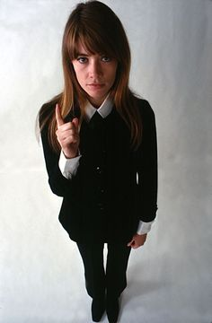 Françoise Hardy in a cool boyish outfit, so parisian and so 60's #millimetre