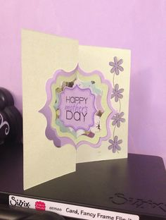 Lovely Mother's Day card by @Stephanie Barnard featuring her Flip-its and Framelits dies.