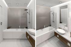Aranżacja Projekt łazienki Wystrój Nowoczesny Minimalistyczny W