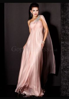 Long Pink Evening Dress