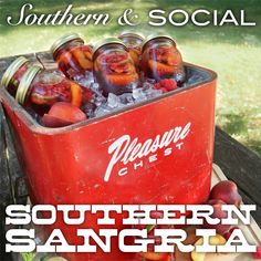 Sweet Tea Sangria. Made this for memorial day and it was a HIT! AMAZING!