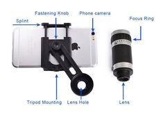 Tripod Stand Clip 8X 12X 18X Telephoto Mobile Phone Telescope Lens For Xiaomi Mi 4c/Mi 4s/Mi 5/Mi 5 Plus/Mi Note 2/Mi Mix/Mi 5s