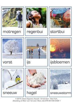 Woordkaarten. Meer over het weer.