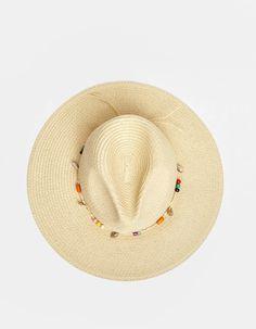 9cd6a60d2 Sombrero panama con conchas. Sombrero panama con conchas - Gorros y sombreros  de mujer