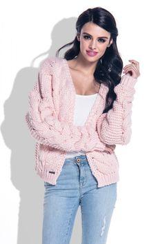 Take a look at this Powder Pink Knit Open Cardigan - Women today! Gilet Rose, Powder Pink, Layered Look, Open Cardigan, Cardigans For Women, That Look, Ruffle Blouse, Satin, Vest
