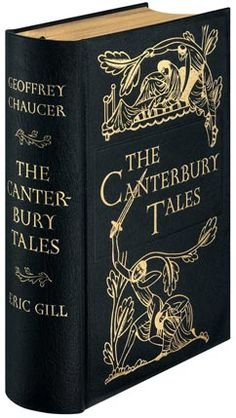 """The Canterbury Tales,"" by Geoffrey Chaucer. ""Whan that April wit his showres soote The droughte of March hath perced to the roote, And bathed every veine in swich licour, Of which vertu engendred is the flowr;"" (lines of the General Prologue). I Love Books, Books To Read, My Books, Reading Books, Kids Reading, Classic Literature, Classic Books, English Literature, Antique Books"