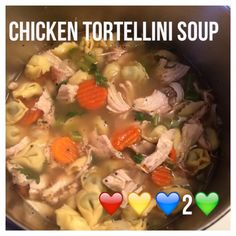 Di's Food Diary 21 Day Fix Recipes = Chicken Tortellini Soup