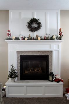 Fireplace Mantel Redo in time for Christmas - Diary of a Quilter - a quilt blog