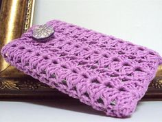 Purple Crochet iPhone cover Cell Phone sleeve case by etty2504, $17.00
