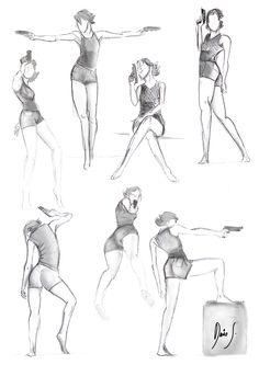 Character Design/Pose Study https://www.facebook.com/dariosuarezartedigital…