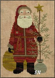 Country Santa in Cross Stitch from Teresa Kogut -- click to see more