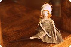 Kiki paper clay handmade OOAK miniature doll | eBay by jurgadecor