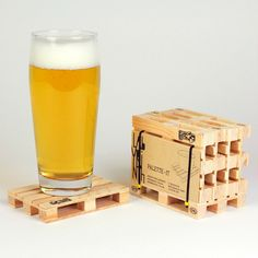 Pallet Wood Coasters are tough, durable and made to bear even the heaviest mugs.