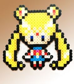 Sailor Moon Inspired 8 Bit Perler - Sailor Moon via eb.perler. Click on the image to see more!
