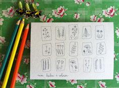 Carte fleurie / papilionpapillonnage