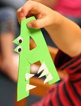 Letter of the week craft for each letter. Upper case and lower case letters.