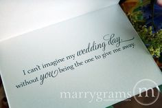 Wedding Card Asking to Give You Away...Way to Ask by marrygrams