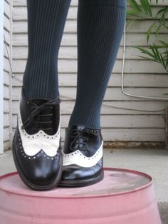 Saddle shoes! Totally had these when I was little and thinking about them again.