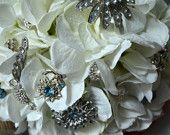 $150.00    White silk bridal bouquet