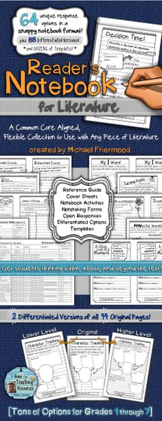 Breathe some new life into how students respond to literature... A HUGE, differentiated collection of response pages in a snappy notebook format! ($)