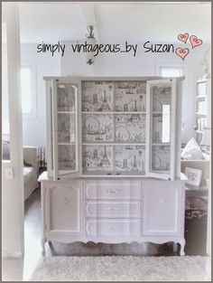 A Painted Hutch Makeover