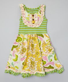 Look at this Mustard Pie Sweet Pea Dress - Infant, Toddler & Girls on #zulily today!