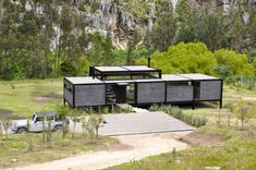 Prefab Homes, Modular Homes, Steel Frame House, Retreat House, Casas Containers, Industrial Architecture, Modern Farmhouse Exterior, Container Design, Shipping Container Homes