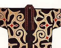 Fig. 9: A good example of asymmetrical design. All styles of robes have at least some examples of asymmetrical designs. However, most examples are much more subtle. - The Ainu and Their Culture: A Critical Twenty-First Century Assessment :: JapanFocus
