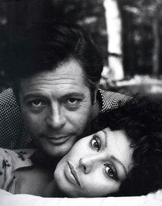 Marcello Mastroianni et Sophia Loren.