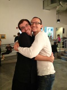 Chaz & his 17 year old son Jaime. Holy cow, Jaime's bigger than Chester!