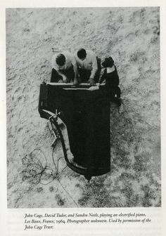 electrified music as seen from above ~ John Cage, David Tudor and Sandra Neels