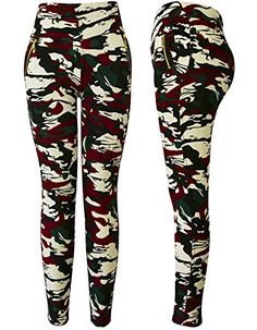 Abundant Life Camo Yoga Pants For Women  Best Quality  Zippered Pockets Long ** Check out the image by visiting the link.