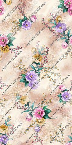 Textile Prints, Textile Design, Floral Prints, Textiles, Fabric Patterns, Print Patterns, Surface Pattern Design, Lace Fabric, Printing On Fabric