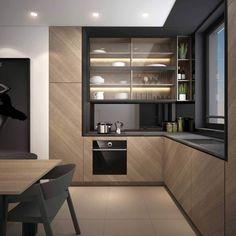 Kitchen Pantry Design, Luxury Kitchen Design, Home Decor Kitchen, Interior Design Kitchen, Home Kitchens, Cuisines Design, Kitchen Remodel, Design Projects, Design Ideas
