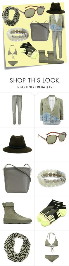 """""""set for you"""" by denisee-denisee ❤ liked on Polyvore featuring Post-It, Levi's, Greg Lauren, Maison Michel, Yves Saint Laurent, Rick Owens, Lacey Ryan, Fear of God, Stance and Marysia Swim"""