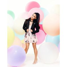 Ariana Grande For Lipsy Pu Biker Jacket (£68) ❤ liked on Polyvore featuring outerwear, jackets, biker style jacket, moto jacket, pink jacket, pink motorcycle jacket and pink biker jacket