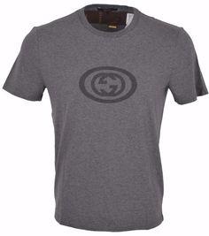 New Gucci Men's 353899 Grey Jersey Cotton Interlocking GG SLIM FIT T Shirt XXXL