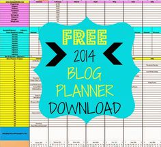 RUNNING WITH OLLIE: SOCIAL MEDIA SUNDAY: FREE 2014 BLOG PLANNER DOWNLOAD