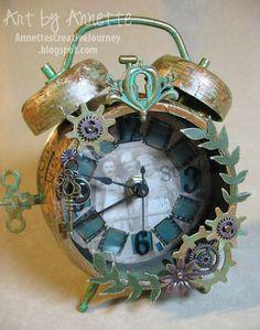 assemblage clocks   Annette's Creative Journey: Altered Assemblage Clock