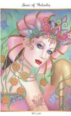 Featured Card of the Day - 7 of Pentacles - 78 Tarot Carnival ~ Cirque du Tarot